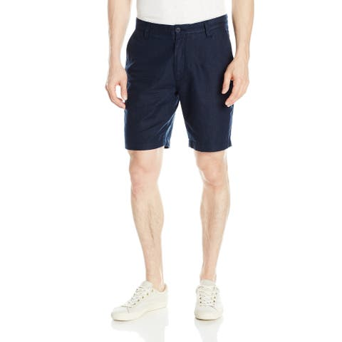 Nautica Blue Mens Size 32 Classic Fit Chino Flat Front Shorts