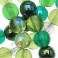 Czech Glass Druk 6mm Round 'Beads Ever Green Mix' (50) - Thumbnail 0