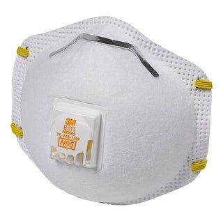 3M 8511PB1-A N95-Particulate Respirator With Exhalation Valve, White, 10-Pack