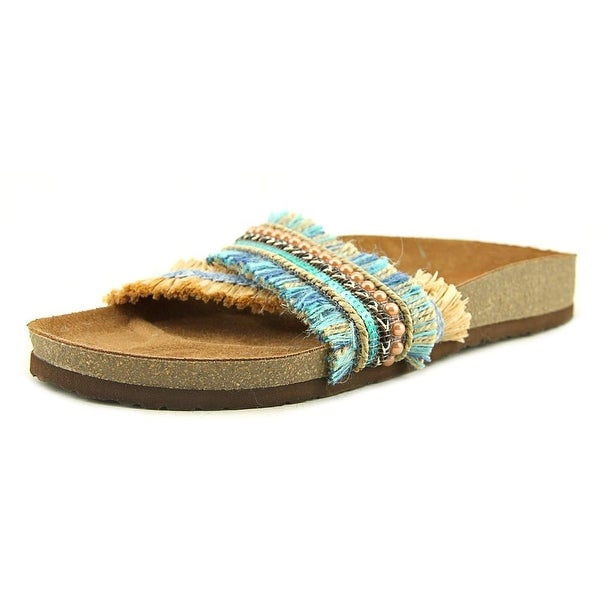 Dolce by Mojo Moxy Chisomo Women Open Toe Synthetic Blue Slides Sandal