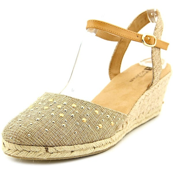 White Mountain Saltwater Women Gold Sandals
