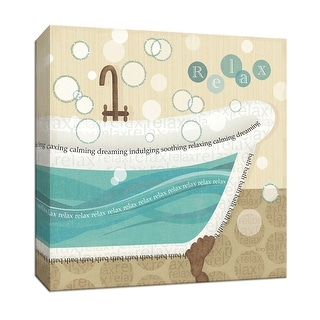"""PTM Images 9-151952  PTM Canvas Collection 12"""" x 12"""" - """"Dancing Bubbles II"""" Giclee Bubbles and Tubs Art Print on Canvas"""