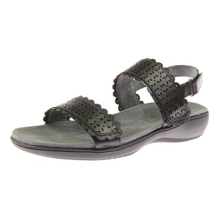 Trotters Womens Galle Flat Sandals Leather Laser Cut
