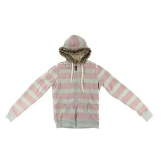 U.S. Polo Assn. Womens Juniors Fleece Jacket Hooded Sherpa Lined