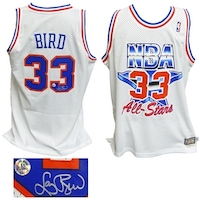 e3dcf07eb Larry Bird Eastern Conference 1992 All Star Game Official Adidas White Throwback  Swingman Jersey