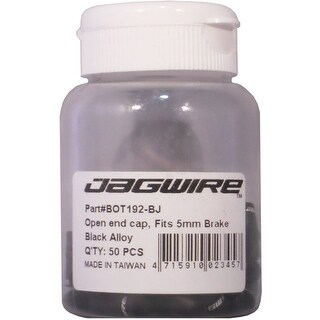 Jagwire Alloy Open End Caps - Bottle of 50 - Black - BOT192BJ