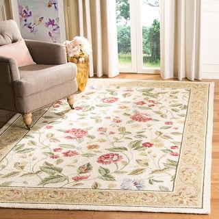 Link to Safavieh Hand-hooked Chelsea Sharde Country Oriental Wool Rug Similar Items in Shabby Chic Rugs