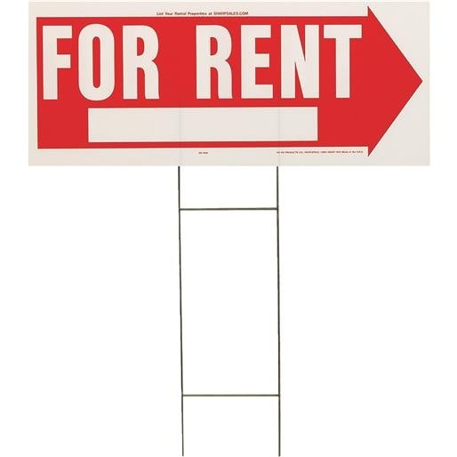 Hyko Prod. Sign For Rent RS-806 Unit: EACH