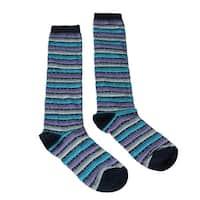 Missoni GM00CMD5220 0004 Purple/Turquoise Knee Length Socks