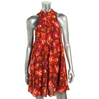 Free People Womens Casual Dress Floral Print Pintucked