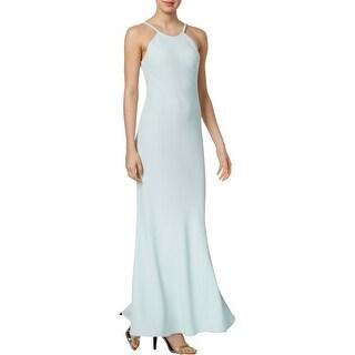 Calvin Klein Womens Evening Dress Scoop Neck Spaghetti Straps