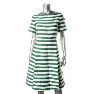 Kate Spade Womens Silk Blend Striped Wear to Work Dress - 00