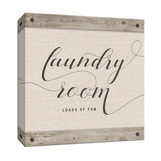 """PTM Images 9-147849  PTM Canvas Collection 12"""" x 12"""" - """"Laundry Room"""" Giclee Sayings & Quotes Art Print on Canvas"""