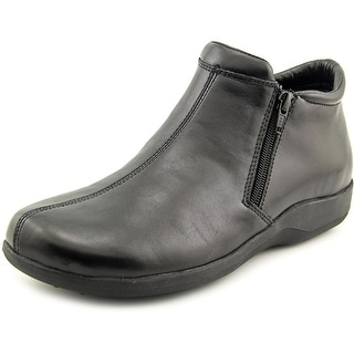 Walking Cradles Zip N/S Round Toe Leather Bootie