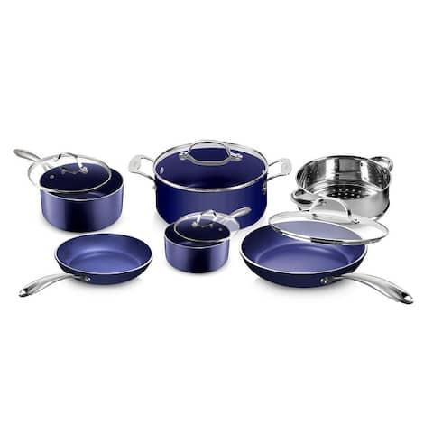 Granitestone Blue Non Stick Scratch Resistant 10pc Cookware Set