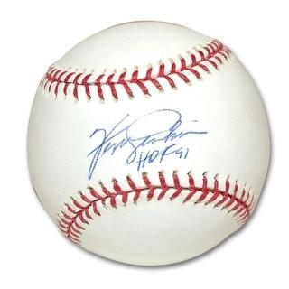 "Autographed Ferguson Jenkins MLB Baseball Inscribed ""HOF 91"""