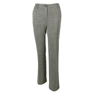 Jones New York Women's Textured Stripe Dress Pants - Charcoal Multi - 2