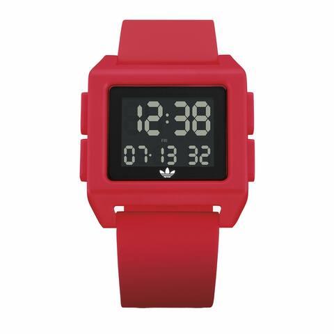 Adidas Men's Archive Sp1 Z15 203-00 Red Silicone Quartz Fashion Watch - Multicoloured