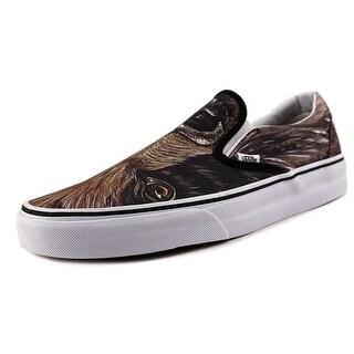 Vans Classic Slip-On Round Toe Canvas Sneakers