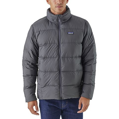 Patagonia Mens Silent Down Jacket Forge Gray L