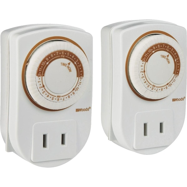 Woods 2Pk Plugin Indoor Timer