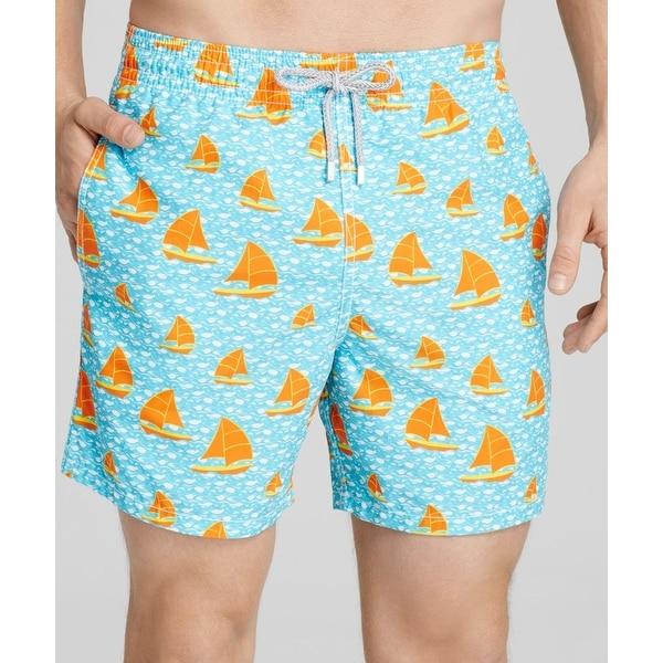 4881ff90a4 Shop Vilebrequin NEW Blue Mens Size 2XL Sailboat Print Swimwear ...
