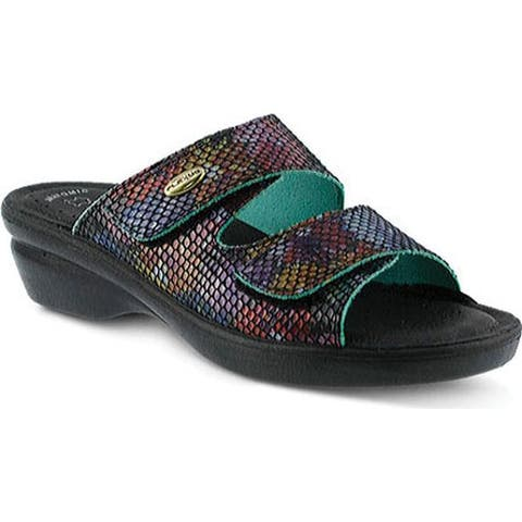 Flexus by Spring Step Women's Kina Slide Sandal Black Multi Leather
