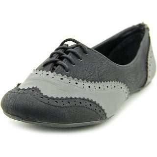 Not Rated Sabrina Women  Wingtip Toe Synthetic Black Oxford