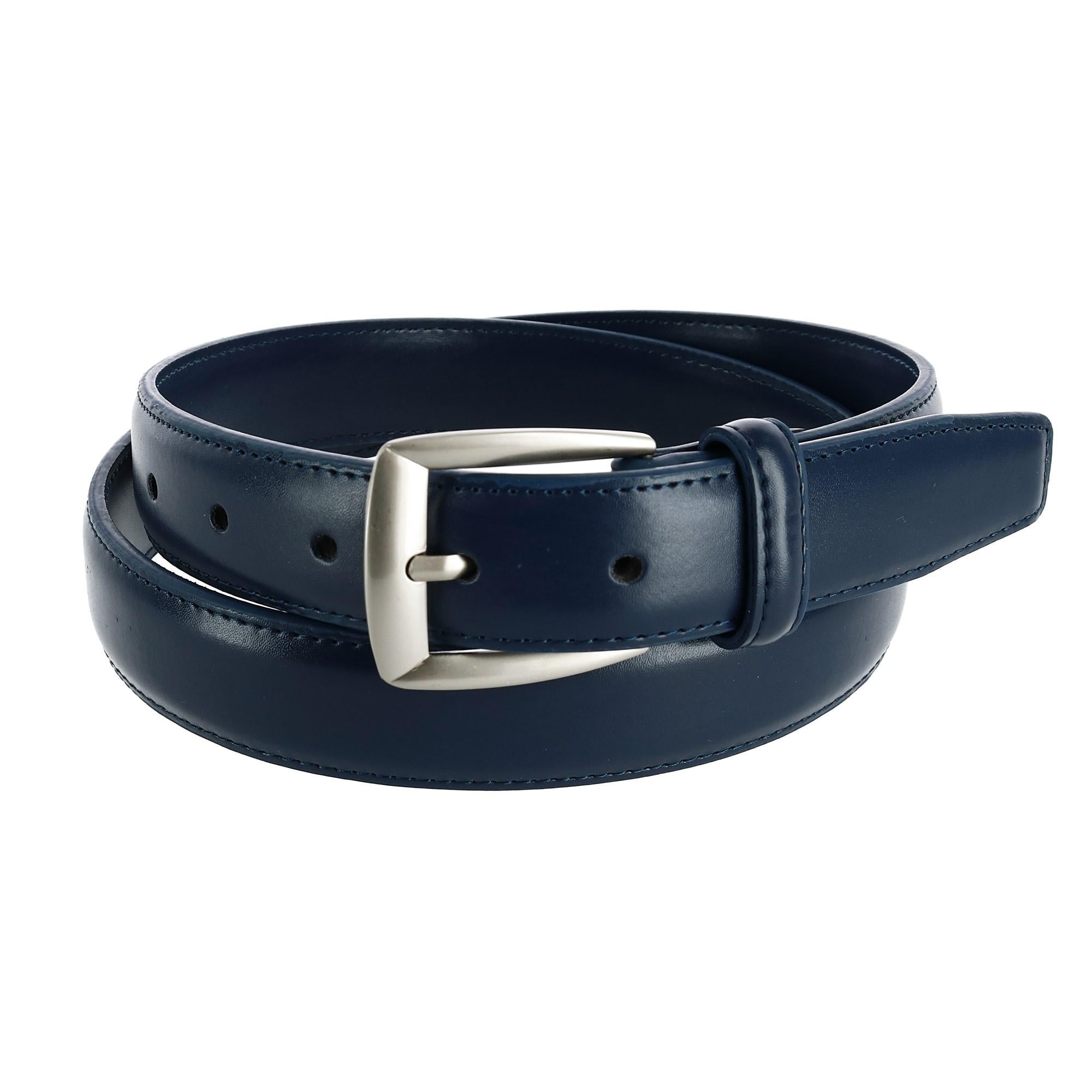 Pack of 2 CTM Kids Leather 1 inch Basic Dress Belt