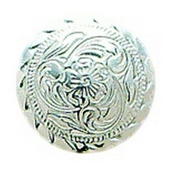 """M&F Western Concho Engraved Round Floral 1"""" Screw Silver"""