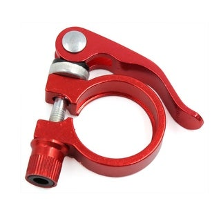 31.8mm Aluminum Alloy Quick Release Style Bike Saddle Seatpost Bolt Clamp Red