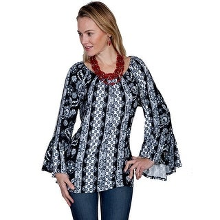 Scully Western Shirt Womens Long Sleeve Print Pullover HC255