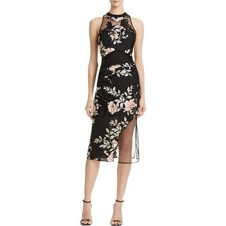 Guess Womens Cocktail Dress Floral Print Embroidered