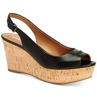 Coach Womens Ferry Peep Toe Casual Platform Sandals