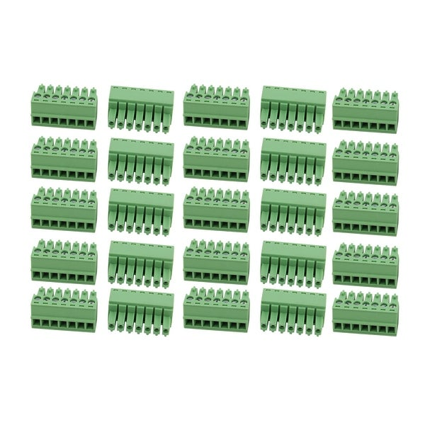 25Pcs AC 300V 8A 3.5mm Pitch 7P Terminal Block Wire Connector for PCB Mounting