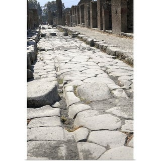 """""""Pompeii, ruined street of shops, Italy"""" Poster Print"""