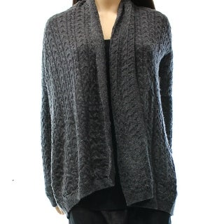 Joan Vass NEW Gray Women's Size XS Textured Open Cardigan Sweater