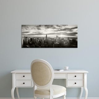 Easy Art Prints Panoramic Image 'Buildings in a city, Manhattan, New York City, New York State, USA' Premium Canvas Art