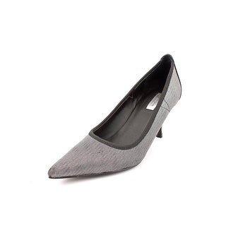 Tahari Dottie Pointed Toe Canvas Heels