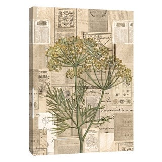 "PTM Images 9-105403  PTM Canvas Collection 10"" x 8"" - ""Academic Yellow Wildflower Illustration"" Giclee Flowers Art Print on"