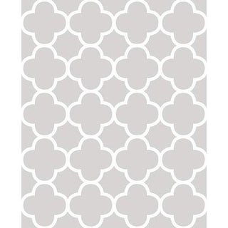Brewster 2625-21856 Origin Grey Quatrefoil Wallpaper
