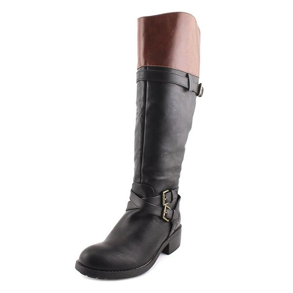 Rampage Britney Women W Round Toe Synthetic Black Knee High Boot
