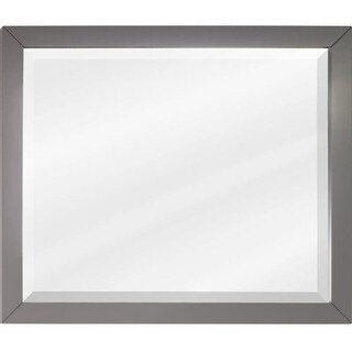 Jeffrey Alexander MIR100-33 33 x 28 Inch Framed Rectangular Vanity Mirror from the Cade Contempo collection - N/A