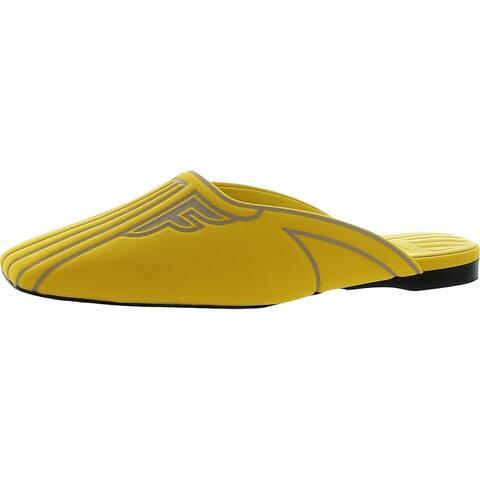 Fendi Womens Freedom Mules Slides Slip On - Yellow - 36 Medium (B,M)