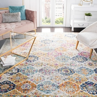 Link to Safavieh Madison Avery Boho Chic Distressed Rug Similar Items in Transitional Rugs