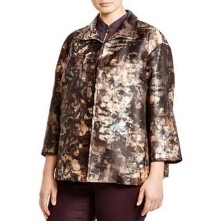 Lafayette 148 Womens Plus Jacket Silk Blend Topper - 3x