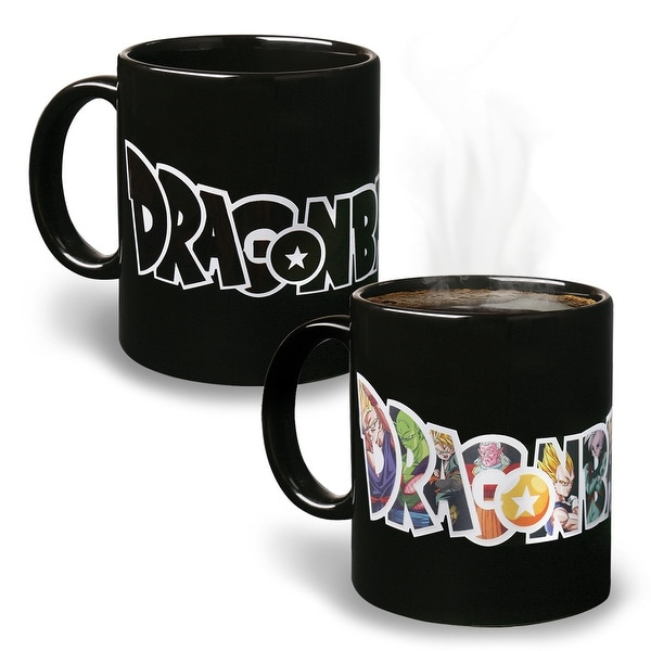 Dragon Ball Z Logo And Character Reactive Heat-Changing Mug 12 Oz Ceramic