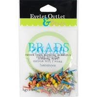 Eyelet Outlet Round Brads 4mm 70/Pkg-Fall