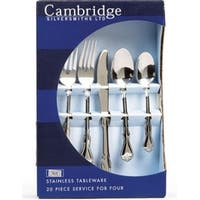 Cambridge Silversmiths 30920PSGM12 Jessica Flatware Set, Mirror, 20 Piece