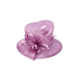 ChicHeadwear Womens Wide Brim Bow Sinamay Fashion Hat